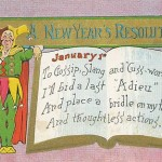 Postcard of a New Year's Resolution from 1909